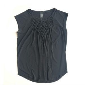 Premise Black Cap Sleeve Top L